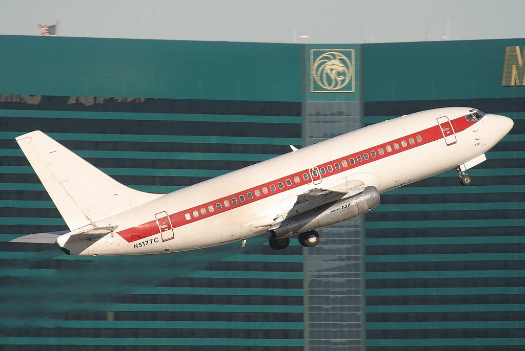 A Janet 737-200 aircraft takes off from McCarran International Airport in this undated photo. Wikimedia Commons