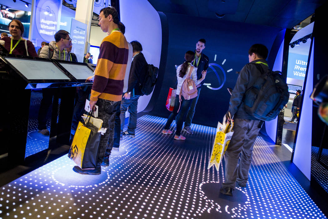 CES attendees try out IBM's Watson computer at CES in the Las Vegas Convention Center on Thursday, Jan. 11, 2018. Patrick Connolly Las Vegas Review-Journal @PConnPie