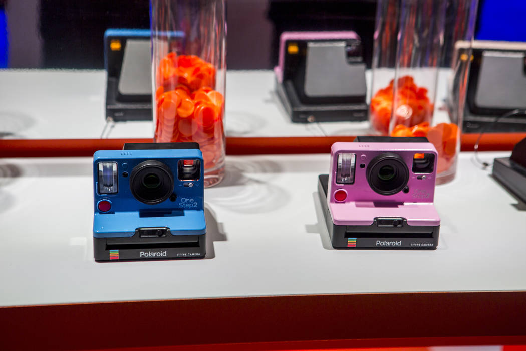The Polaroid OneStep 2 instant camera at CES in the Las Vegas Convention Center on Thursday, Jan. 11, 2018. Patrick Connolly Las Vegas Review-Journal @PConnPie