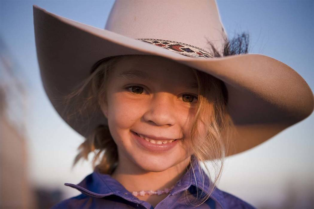 "This photo taken in 2009 and provided by Akubra Hats, shows Amy ""Dolly"" Everett in Brunette Downs in the Northern Territory, Australia. (Akubra Hats via AP)"