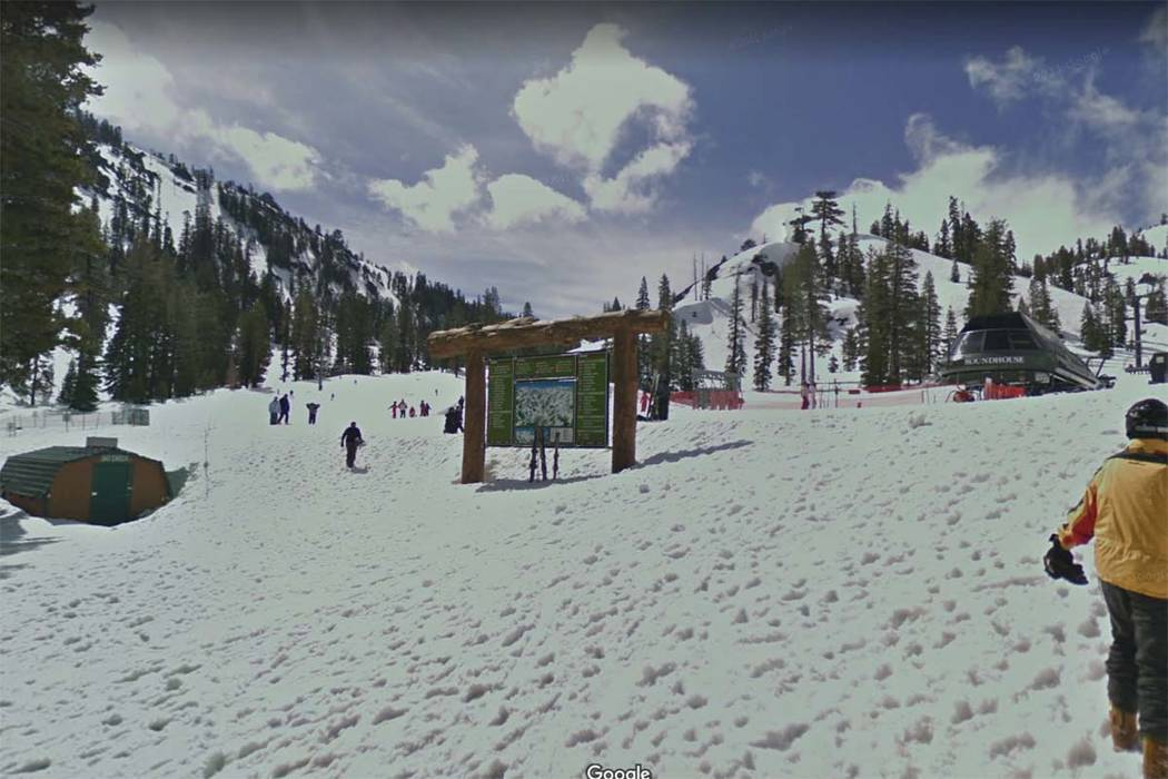 Alpine Meadows ski resort in California (Google Earth)