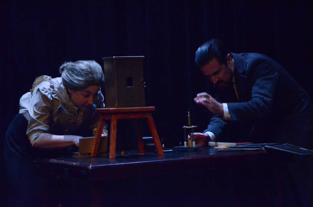 """""""Curie Me Away!"""" is the story of a pioneering scientist overcoming sexism and societal hurdles to become history's most famous female scientist.  Photo courtesy of Matheatre"""