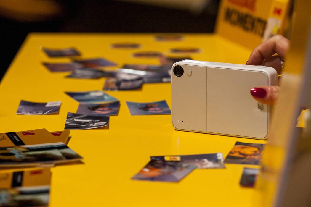 The Kodak Mini Shot instant camera at CES in the Las Vegas Convention Center on Thursday, Jan. 11, 2018. Patrick Connolly Las Vegas Review-Journal @PConnPie