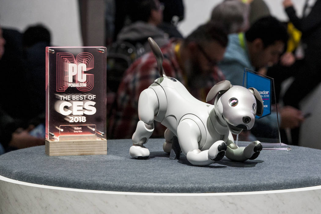 The new Sony Aibo robotic dog at CES in the Las Vegas Convention Center on Thursday, Jan. 11, 2018. Patrick Connolly Las Vegas Review-Journal @PConnPie