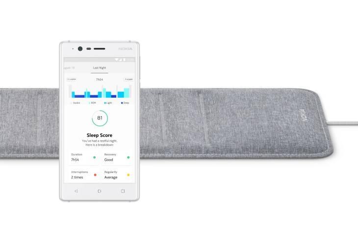 The Nokia Sleep Sensor and Health Mate app.