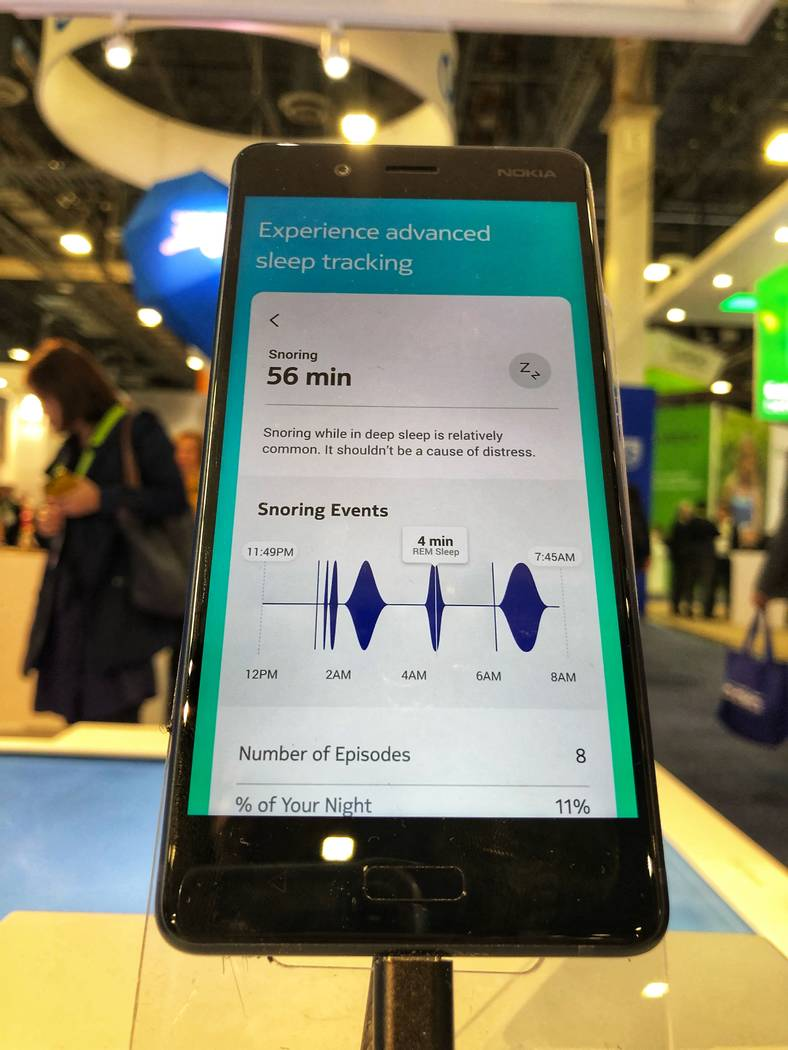 The sleep sensor from Nokia is a flat, foot-long material goes under your mattress at chest level. The gadget can measure the length and depth of your sleep and is connected to Health Mate app, wh ...
