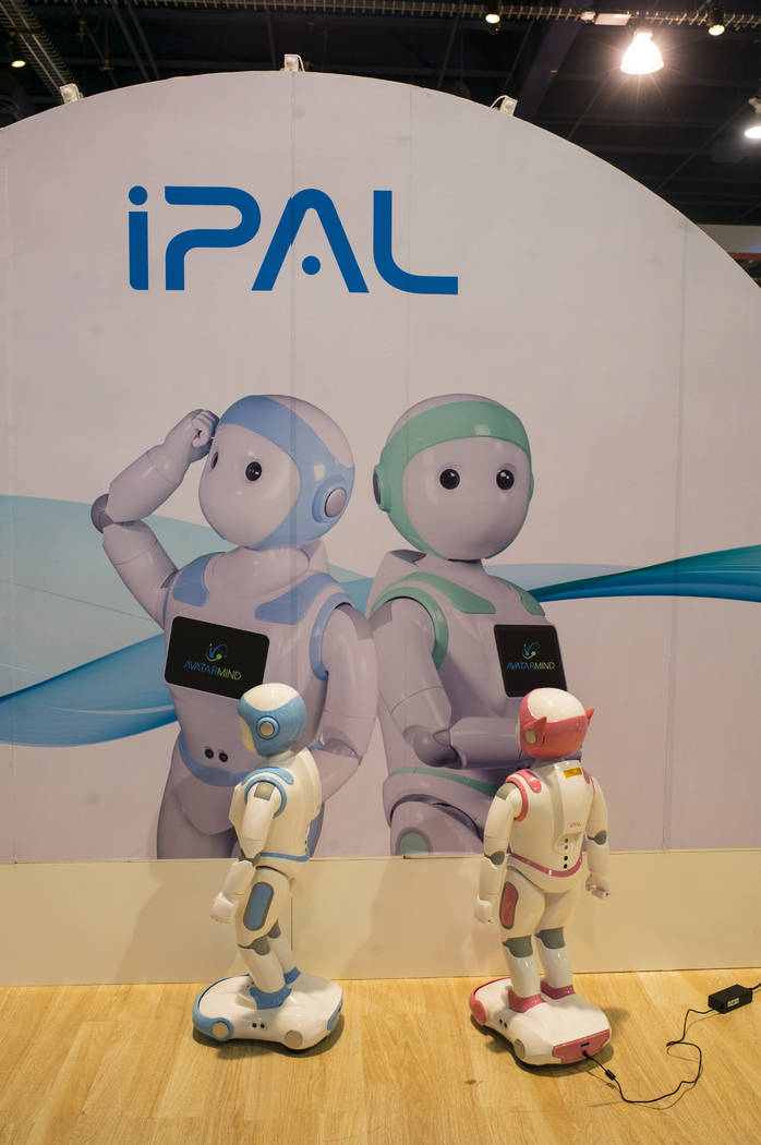 iPal robots, a social robot companion aimed at children and the elderly, at CES at the Las Vegas Convention Center in Las Vegas on Friday, Jan. 12, 2018. Chase Stevens Las Vegas Review-Journal @cs ...