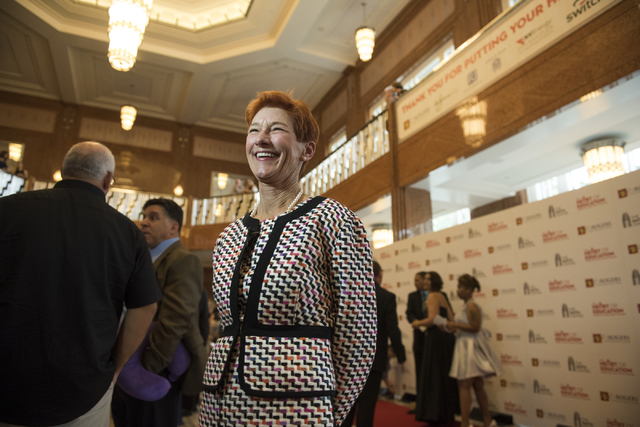 Beverly Rogers, co-founder of The Rogers Foundation is shown during red carpet arrivals for the Heart of Education Awards at The Smith Center on Saturday, May 7, 2016.  (Martin Fuentes/Las Vegas R ...