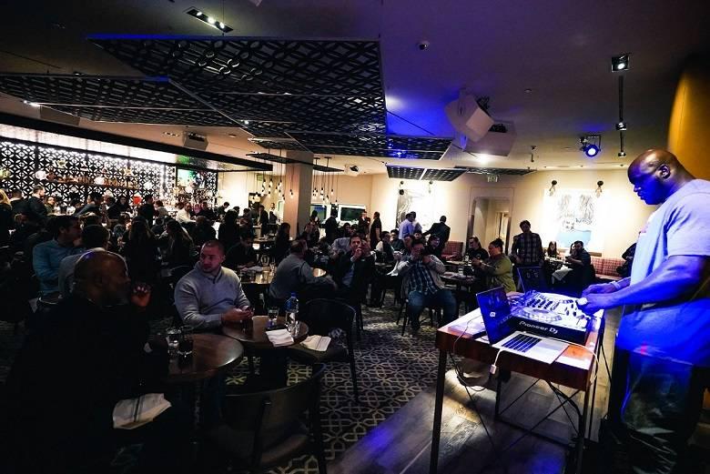 Shaquille O'Neal, aka DJ Diesel, spins at Alexxa's bar at Paris Las Vegas on Wednesday, Jan. 10, 2018 (Joshua Wheat)