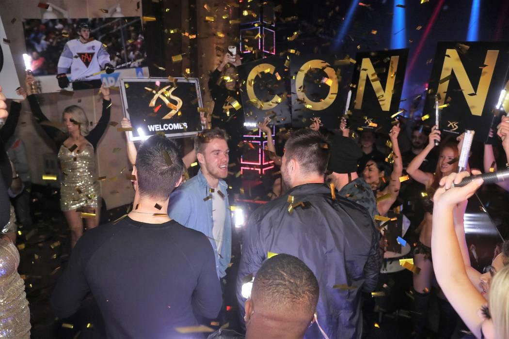 Edmonton Oilers star Connor McDavid is shown celebrating his 21st birthday at XS Nightclub at Wynn Las Vegas on Saturday, Jan. 13, 2018. (Danny Mahoney)