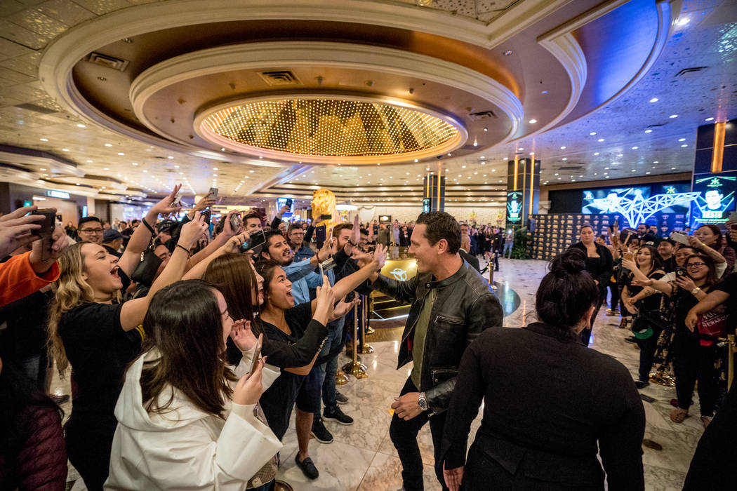 Tiesto meets the fans at a signing event at the lobby of MGM Grand on Saturday, Jan. 13, 2018. (Jordan Loyd)