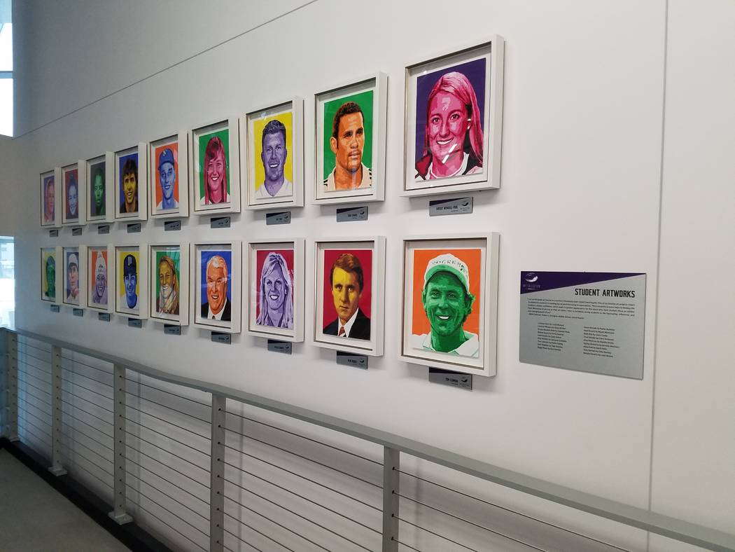 Public art -- photographs, sculptures and paintings adorn most walls in the interior of U.S. Bank Stadium, shown on Sunday, Dec. 17, 2017, prior to the Cincinnati Bengals-Minnesota Vikings game.   ...