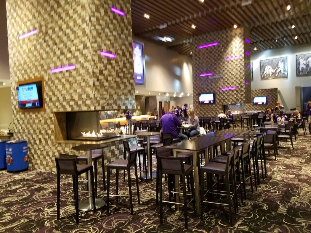 The Medtronic Club at U.S. Bank Stadium has two fireplaces and big screens operating on Sunday, Dec. 17, 2017, prior to the Cincinnati Bengals-Minnesota Vikings game.  Richard N. Velotta/Las Vegas ...