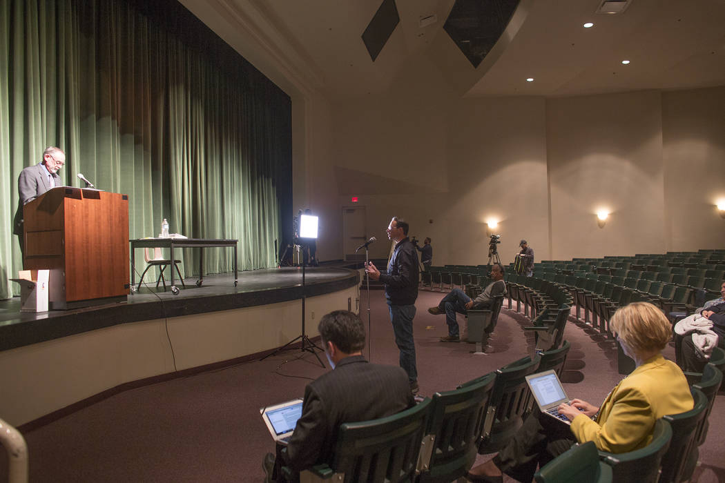 Jerry Lee Dixon speaks at a town hall meeting in Las Vegas, Tuesday, Jan. 23, 2018. Rachel Aston Las Vegas Review-Journal @rookie__rae It was the first of five town hall meetings the school distri ...