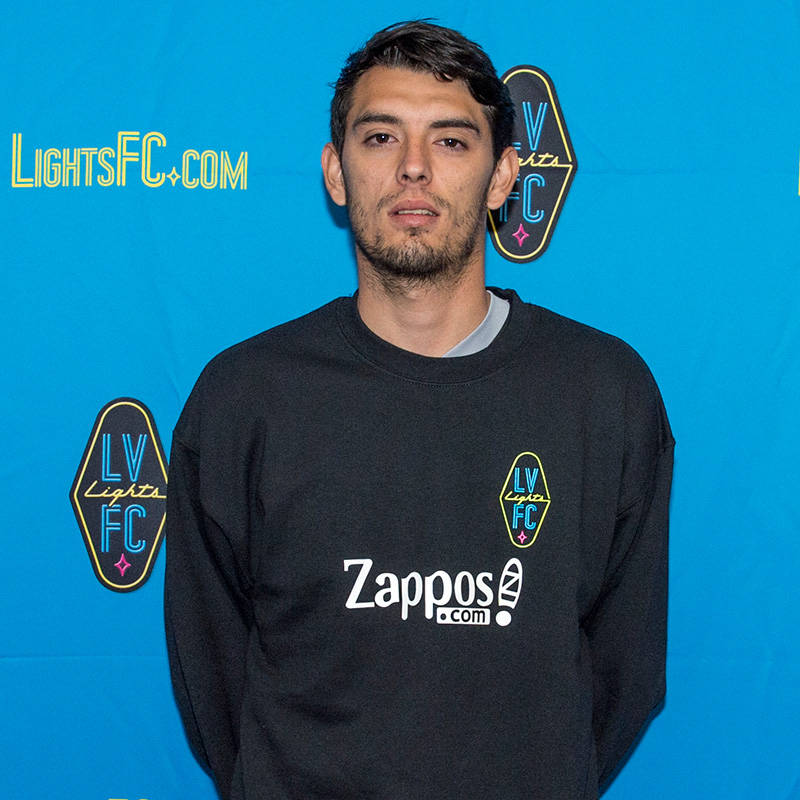 Andres Muniz, 22, a forward, has signed a preseason contract with Las Vegas Lights FC, the club announced Tuesday, Jan. 16, 2018. (Las Vegas Lights FC)