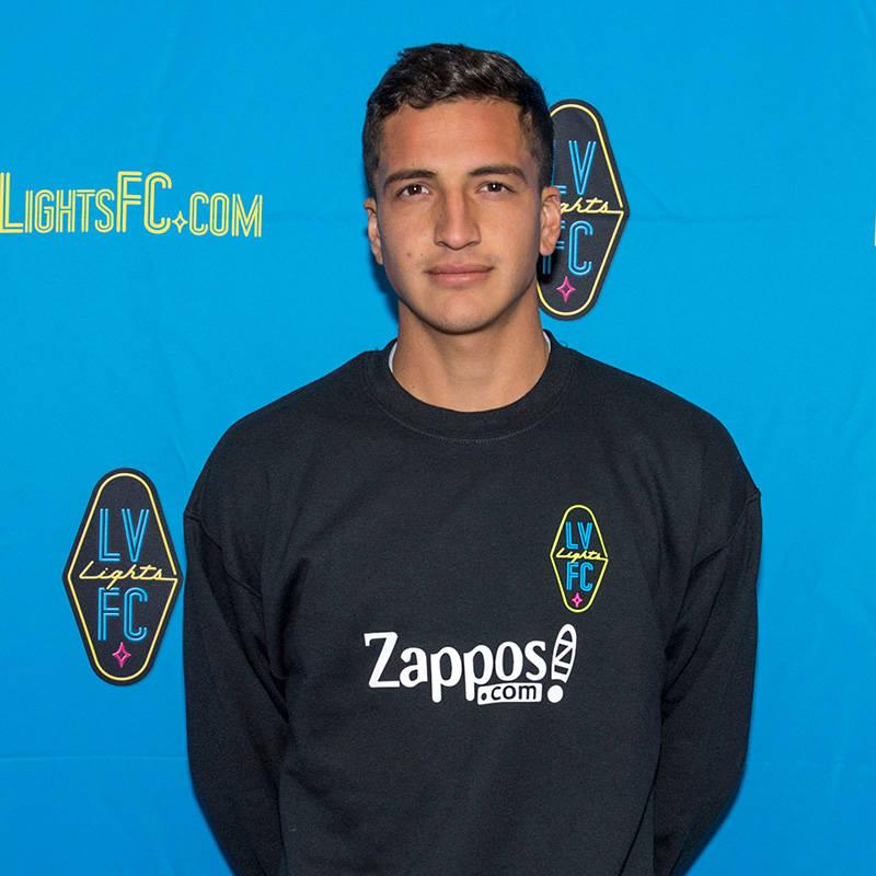 Oscar Hernandez, 21, a midfielder, has signed a preseason contract with Las Vegas Lights FC, the club announced Tuesday, Jan. 16, 2018. (Las Vegas Lights FC)