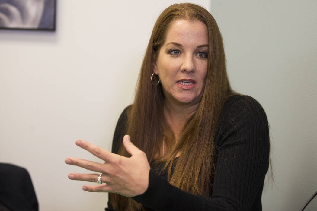 National certified school psychologist Andrea Walsh is interviewed by the Las Vegas Review-Journal in a Town Square conference center in Las Vegas, Wednesday, Jan. 17, 2018. Erik Verduzco Las Vega ...