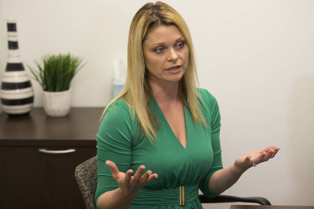 National certified school psychologist Katie Dockweiler is interviewed by the Las Vegas Review-Journal in a Town Square conference center in Las Vegas, Wednesday, Jan. 17, 2018. Erik Verduzco Las  ...