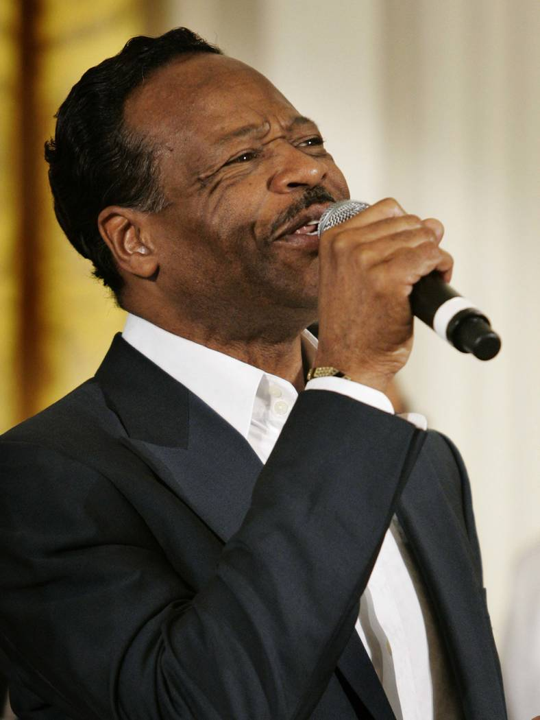 FILE - In this June 17, 2008 file photo, gospel singer Edwin Hawkins performs during an event celebrating Black Music Month in the East Room of the White House in Washington.  (Haraz N. Ghanbari/AP)