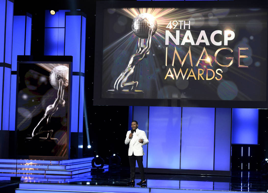 Host Anthony Anderson speaks at the 49th annual NAACP Image Awards at the Pasadena Civic Auditorium on Monday, Jan. 15, 2018, in Pasadena, Calif. (Photo by Chris Pizzello/Invision/AP)