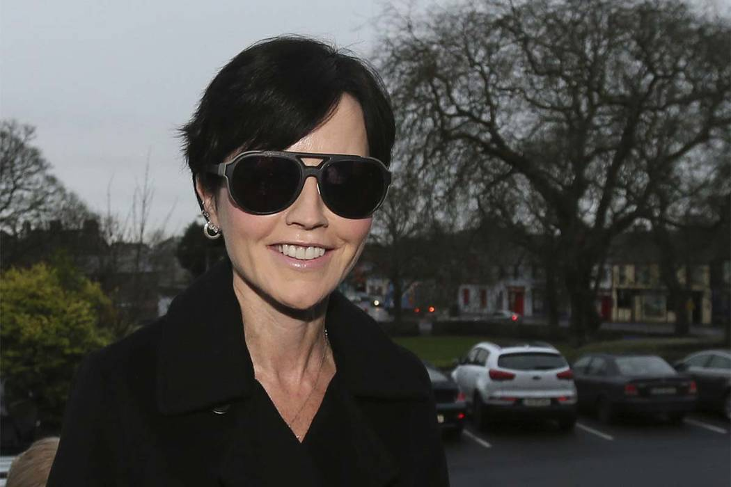 In this Dec. 16, 2015 file photo, Cranberries singer Dolores O'Riordan arrives at Ennis District Court, in Ennis, Ireland. O'Riordan, lead singer of Irish band The Cranberries, has died. She was 4 ...