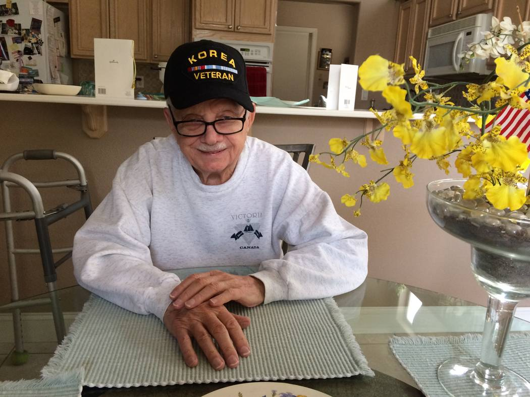 David Soifer, 89, talks  Jan. 4, 2018, about his time in the military. He was stationed in South Korea in the early 1950s and was selected to go on an Honor Flight to Washington, D.C. He declined  ...