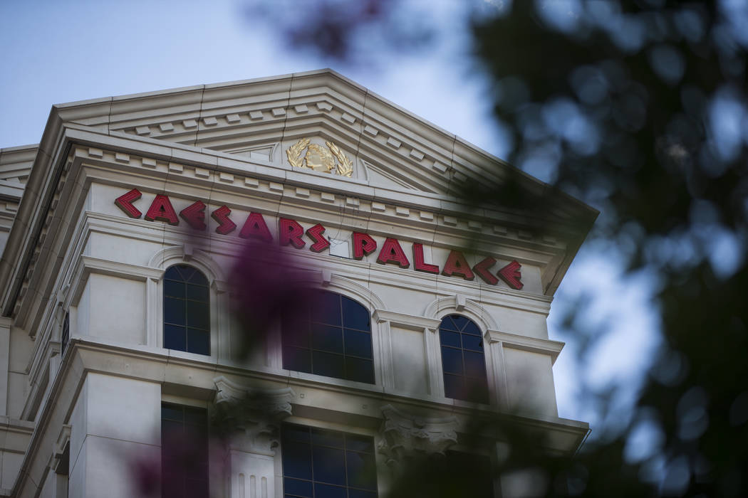 The exterior of Caesars Palace hotel-casino is shown in Las Vegas on Wednesday, May 18, 2016. Chase Stevens/Las Vegas Review-Journal Follow @csstevensphoto