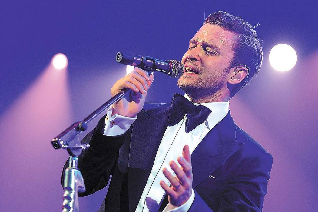 Justin Timberlake has two dates in April at T-Mobile Arena. (Frank Micelotta/PictureGroup)