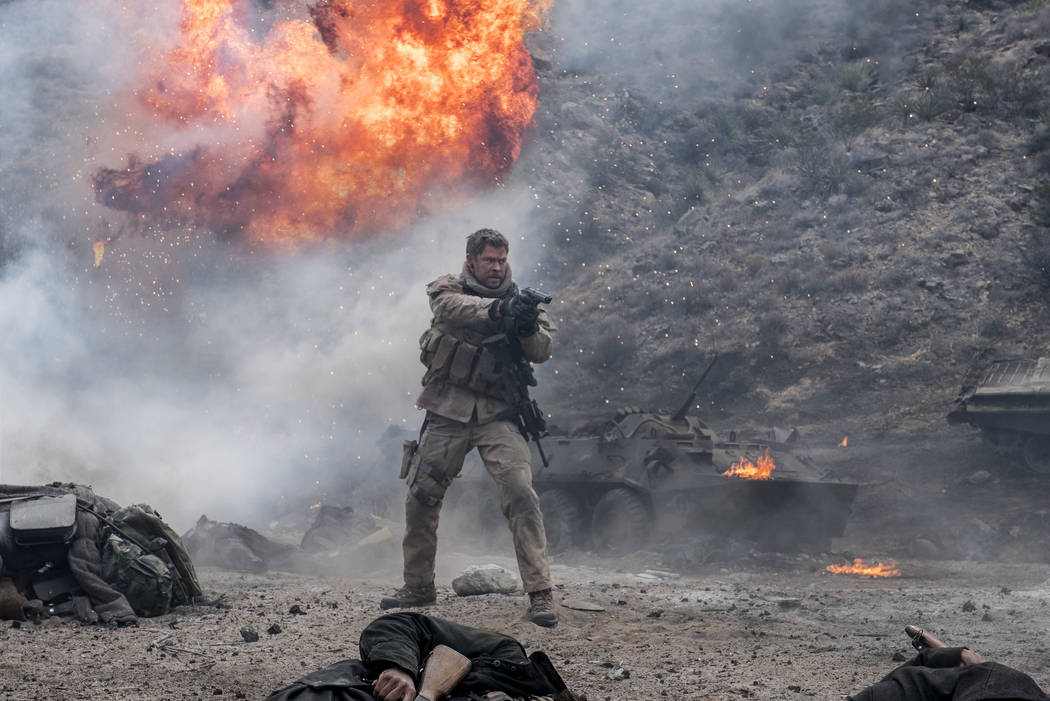 "Chris Hemsworth as Captain Mitch Nelson in ""12 Strong."" (David James)"