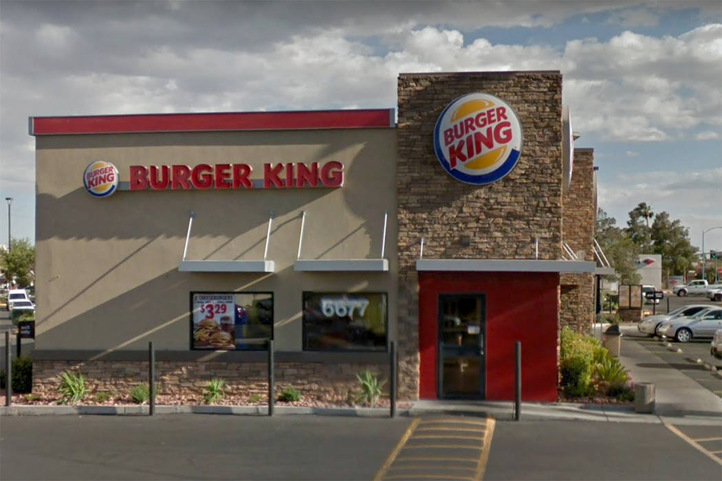 A Burger King restaurant at 6677 W. Cheyenne Ave. in Las Vegas is shown in this screenshot. (Google)
