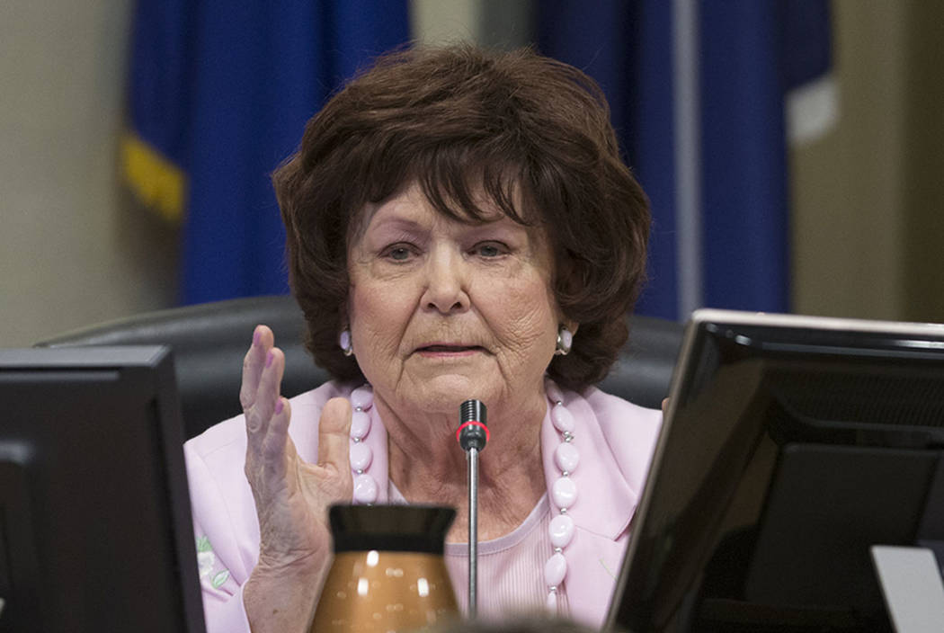Las Vegas City Councilwoman Lois Tarkanian, seen in 2017 (Erik Verduzco/Las Vegas Review-Journal)