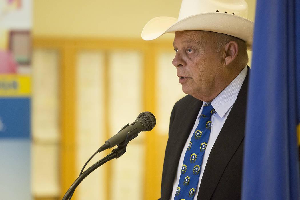 GOP Assemblyman Jim Wheeler speaks at Grant Sawyer State Office Building on Thursday, Sept. 21, 2017, in Las Vegas. (Bridget Bennett/Las Vegas Review-Journal) @bridgetkbennett