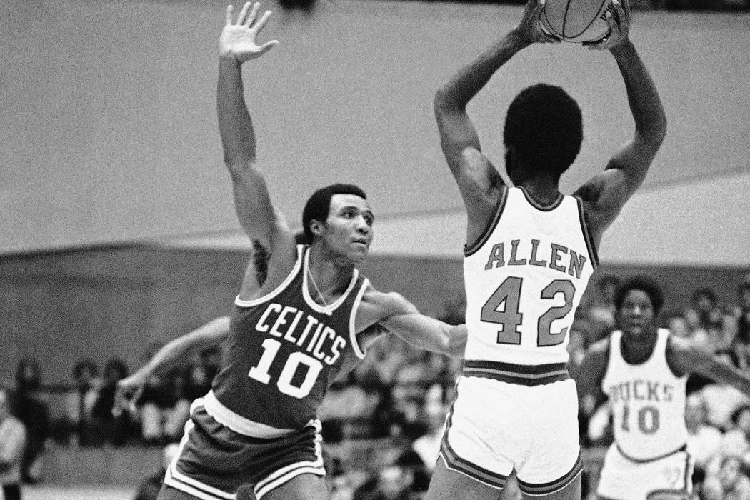 Jo Jo White (10) of the Boston Celtics is shown in action against Milwaukee Bucks, Dec. 22, 1971, Madison, Wisc. Basketball Hall of Famer Jo Jo White, a two-time NBA champion with the Boston Celti ...