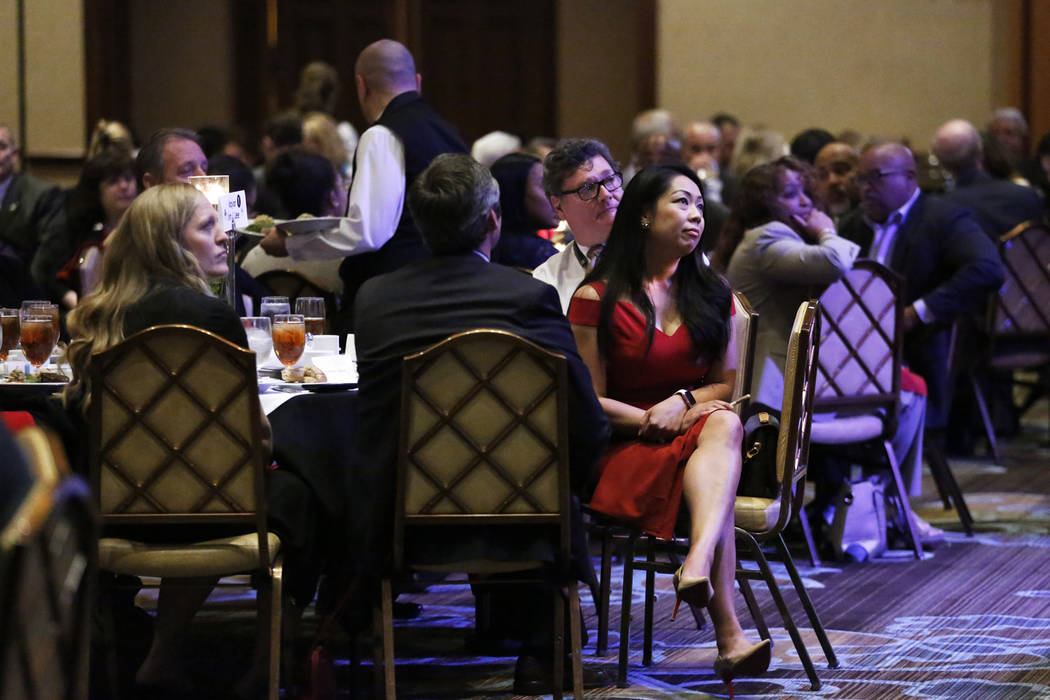 Attendees listen to North Las Vegas Mayor John Lee deliver his State of the City address on Thursday at the Texas Station in Las Vegas, Jan. 18, 2018. Andrea Cornejo Las Vegas Review-Journal @Drea ...