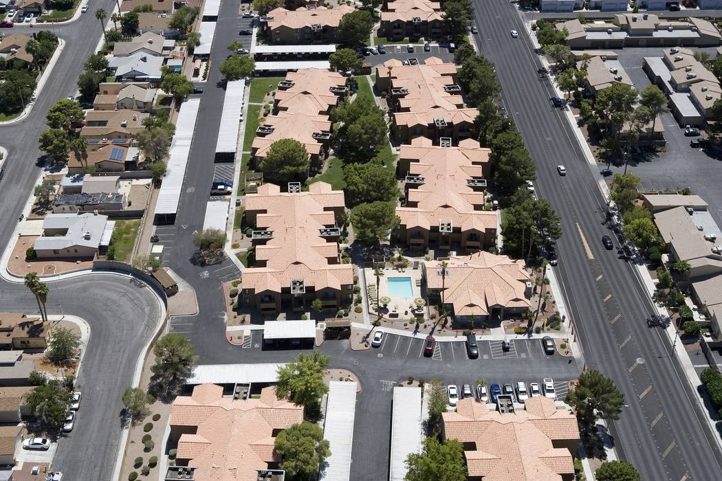 Sunroad Enterprises bought the 320-unit Avery Park apartment complex, seen above, at 2200 N. Torrey Pines Drive in Las Vegas. (Sunroof Enterprises)