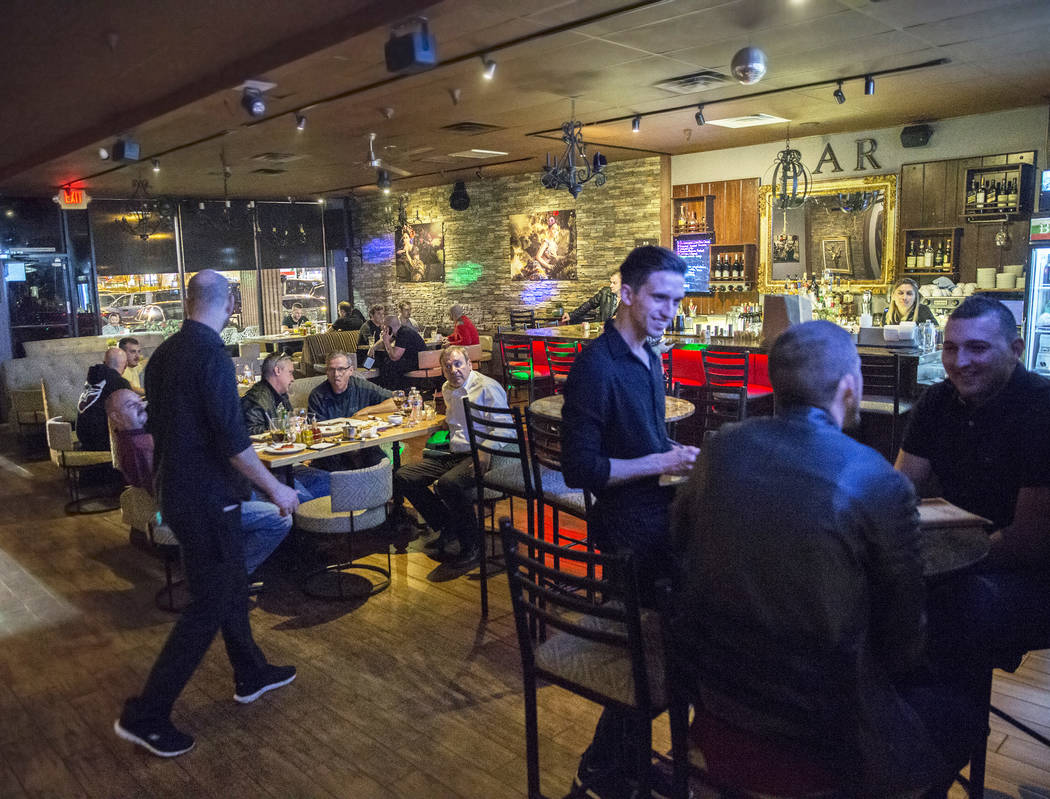 Guests are served dinner at BG Bistro on Thursday, January 18, 2018, in Las Vegas. Benjamin Hager Las Vegas Review-Journal @benjaminhphoto