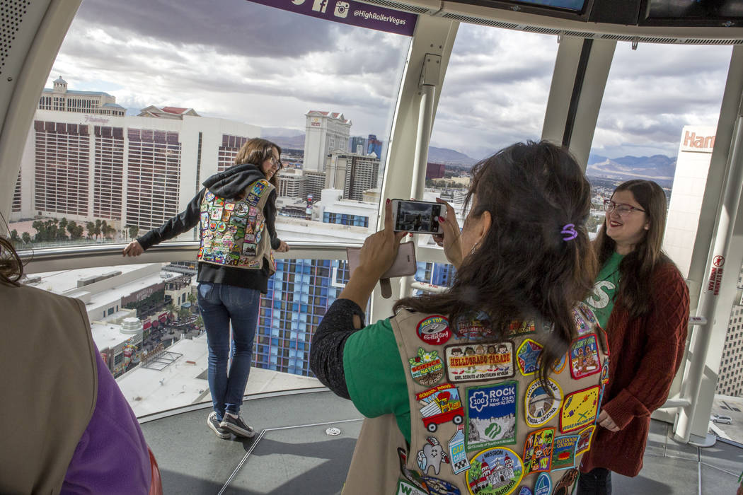 engineering minded girl scouts take high roller for a spin