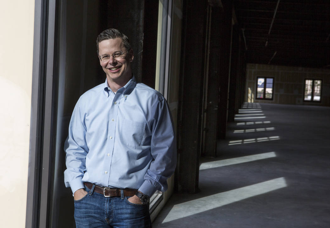 Eric Entringer, vice president of capital markets and investor relationsfor Dornin Investment Group, DIG, in office space in Town Square recently purchased by DIG for $11.8 million on Thursd ...