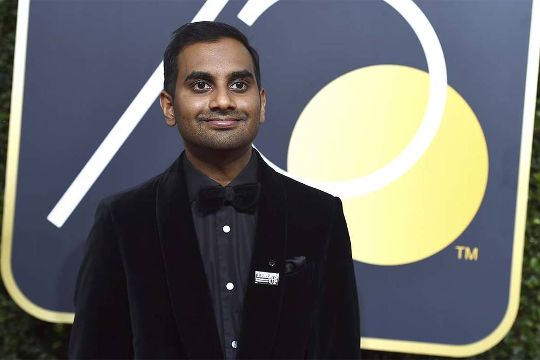 In this Sunday, Jan. 7, 2018 file photo, Aziz Ansari arrives at the 75th annual Golden Globe Awards in Beverly Hills, California. (Jordan Strauss/AP)