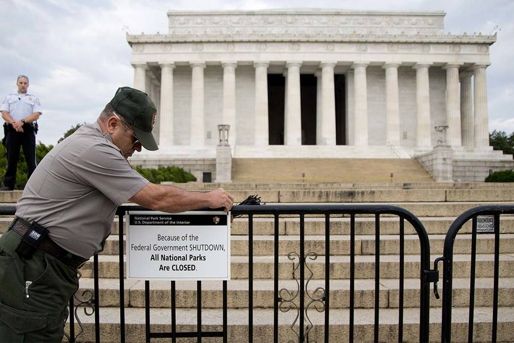 The last time the government shut down was for 16 days in 2013. (Carolyn Kaster/AP file)