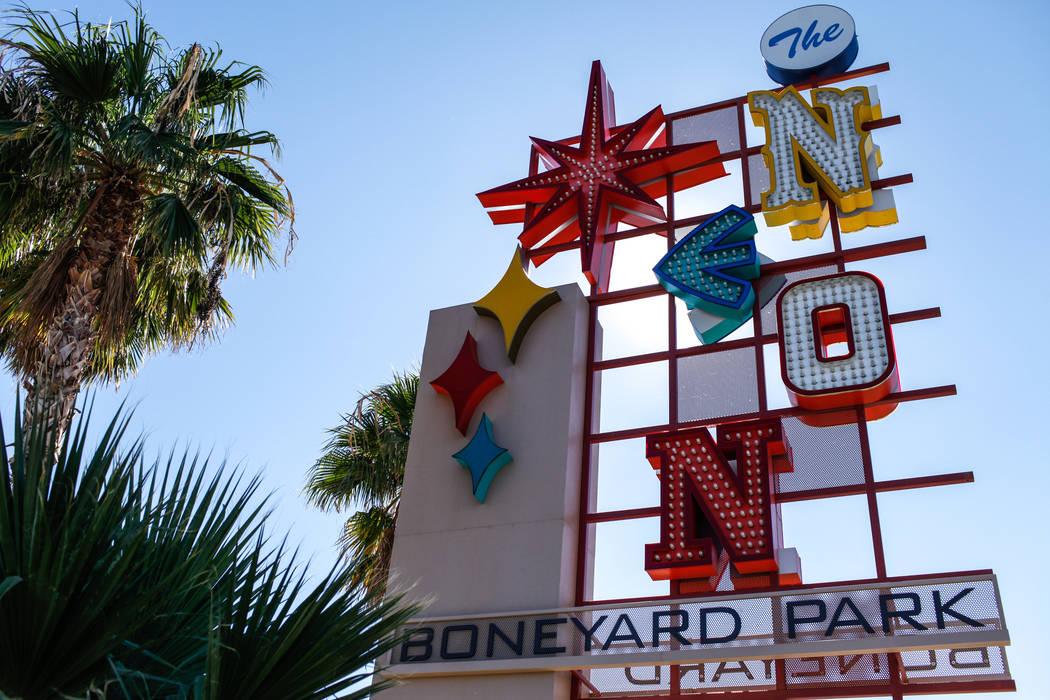 The Neon Museum in Las Vegas, Saturday, Oct. 28, 2017. The museum is celebrating its fifth anniversary this weekend. Joel Angel Juarez Las Vegas Review-Journal @jajuarezphoto
