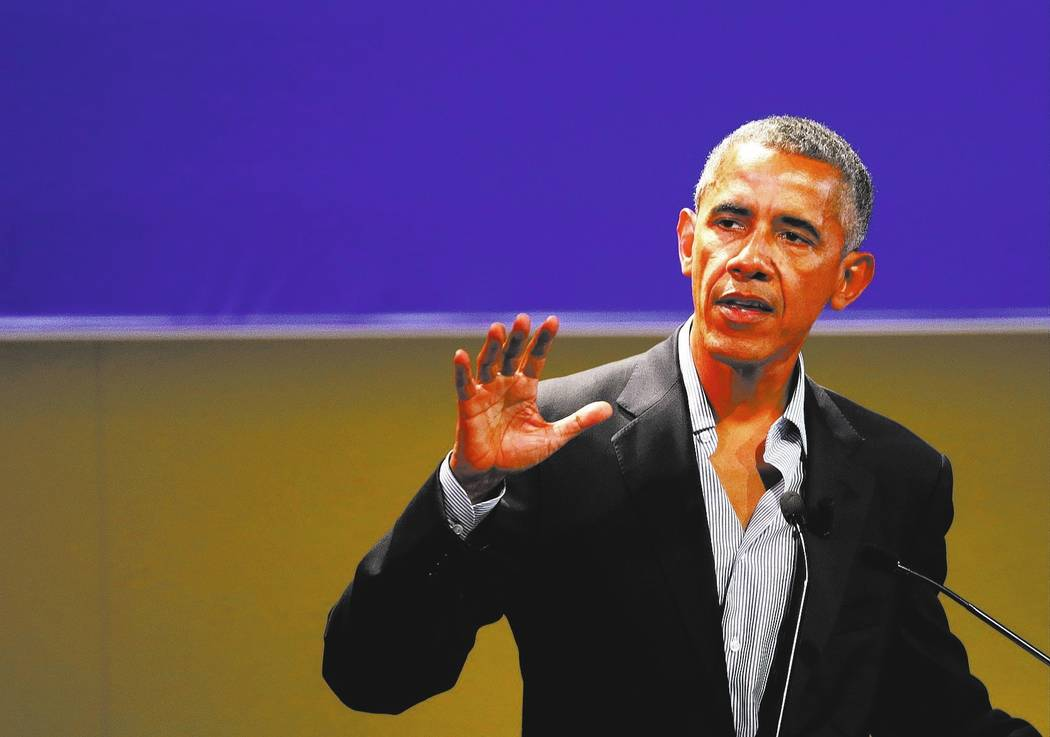 United States former President Barack Obama. (AP Photo/Luca Bruno)