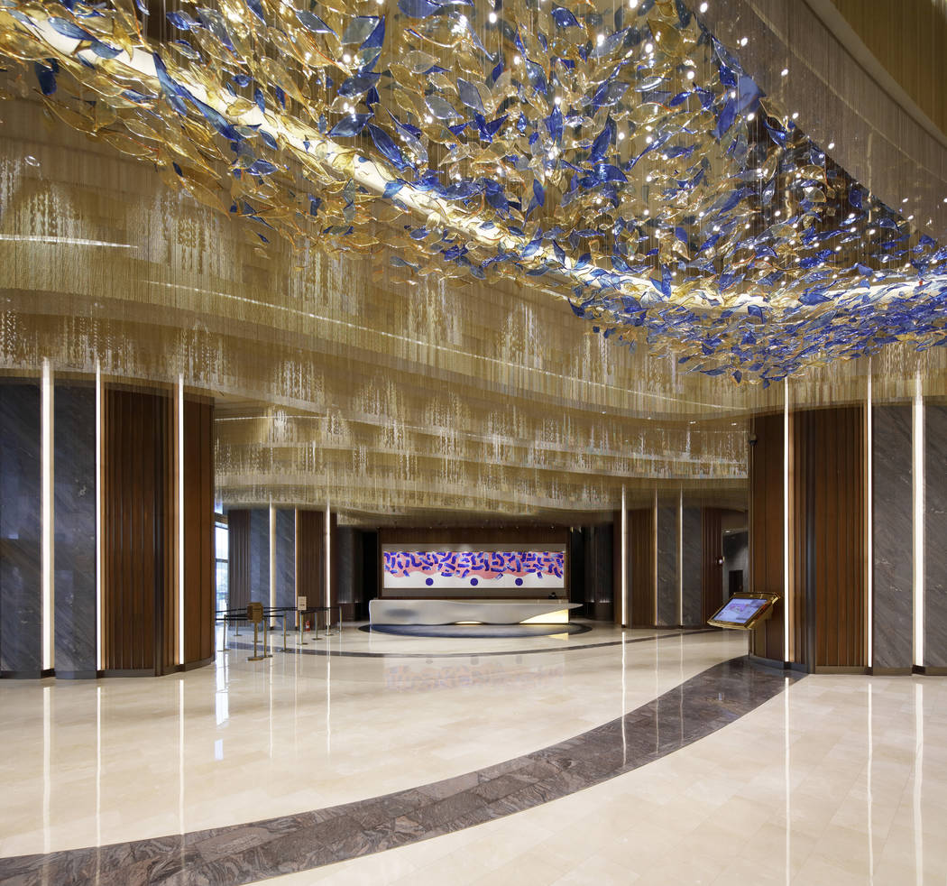 Rendering of the MGM Cotai lobby. (MGM)