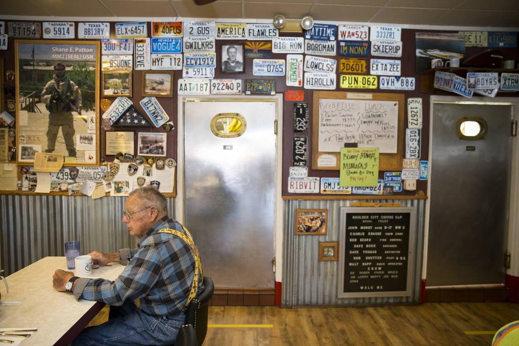 Harry Helfrich, a regular customer of 15 years, drinks a cup of coffee at theCoffee Cup in Boulder City, Thursday, Feb. 8, 2018. Erik Verduzco Las Vegas Review-Journal @Erik_Verduzco