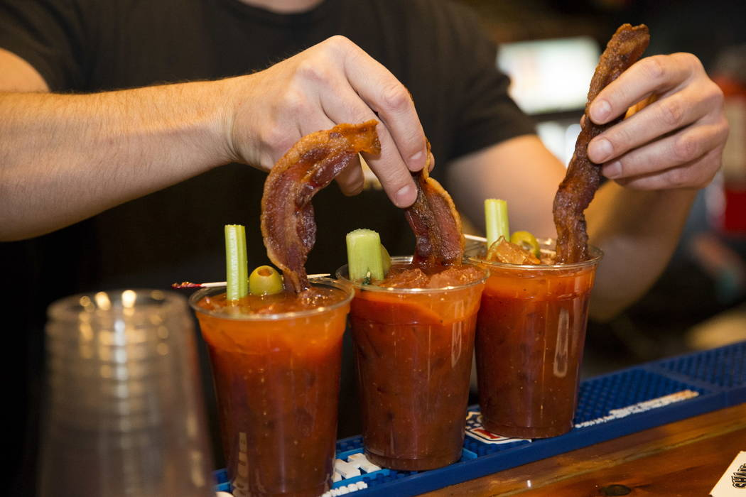 Terry Stevens makes bloody marys at theCoffee Cup in Boulder City, Thursday, Feb. 8, 2018. Terry is the son of theCoffee Cup owners Al and Carri Stevens. Erik Verduzco Las Vegas Review ...