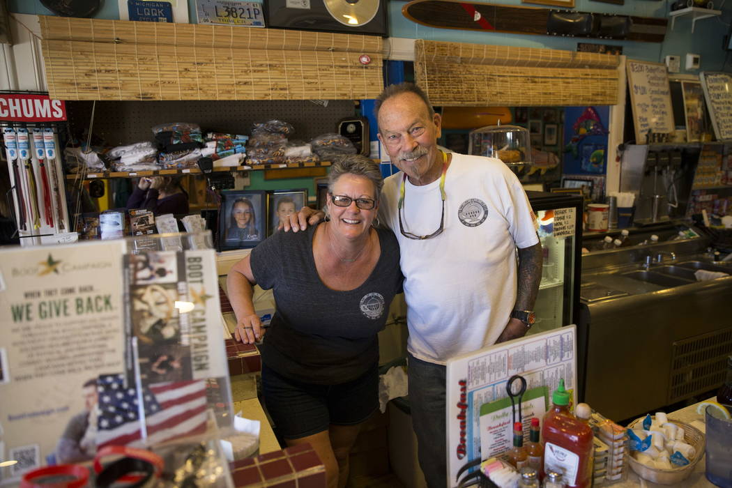 Carri Stevens, left, and her husband Al, owners of the Coffee Cup in Boulder City, on Thursday, Feb. 8, 2018. Erik Verduzco Las Vegas Review-Journal @Erik_Verduzco
