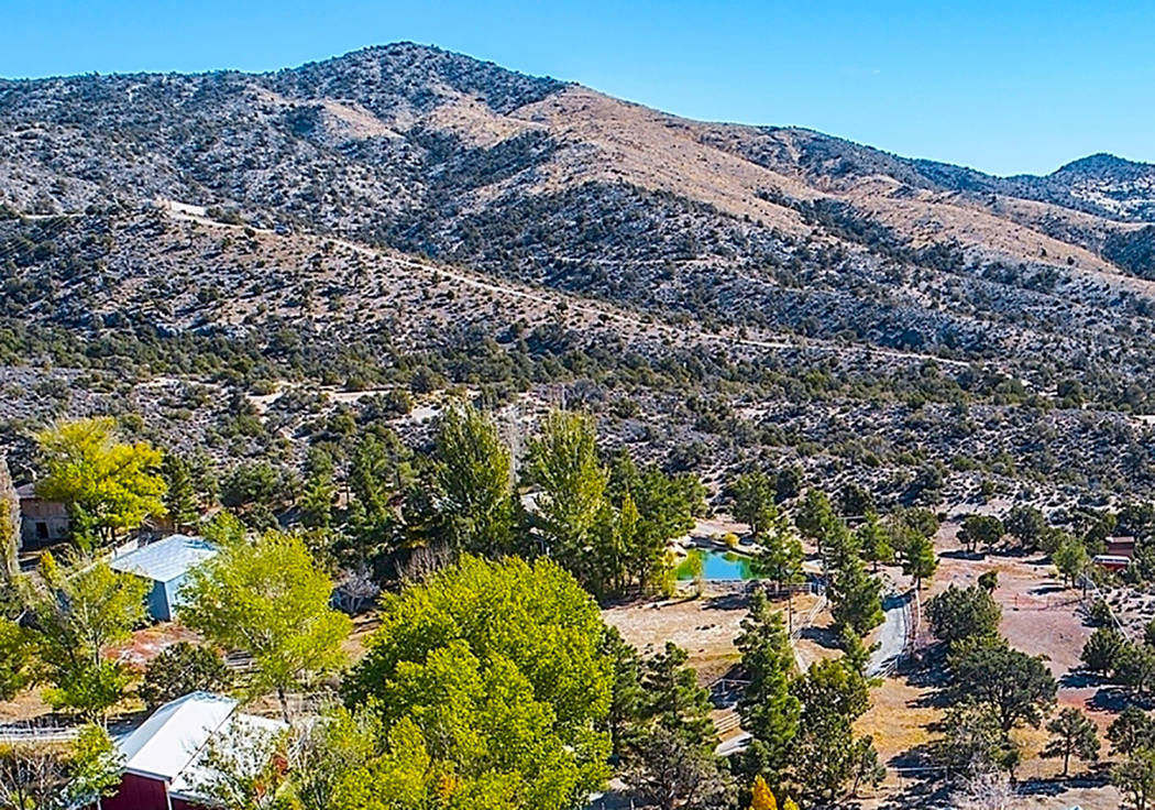 Mountain Springs is an historic community with less than 70 privately owned parcels. It is inside the Spring Mountain National Recreation Area, part of the Toiyabe National Forest. (Realty One Group)