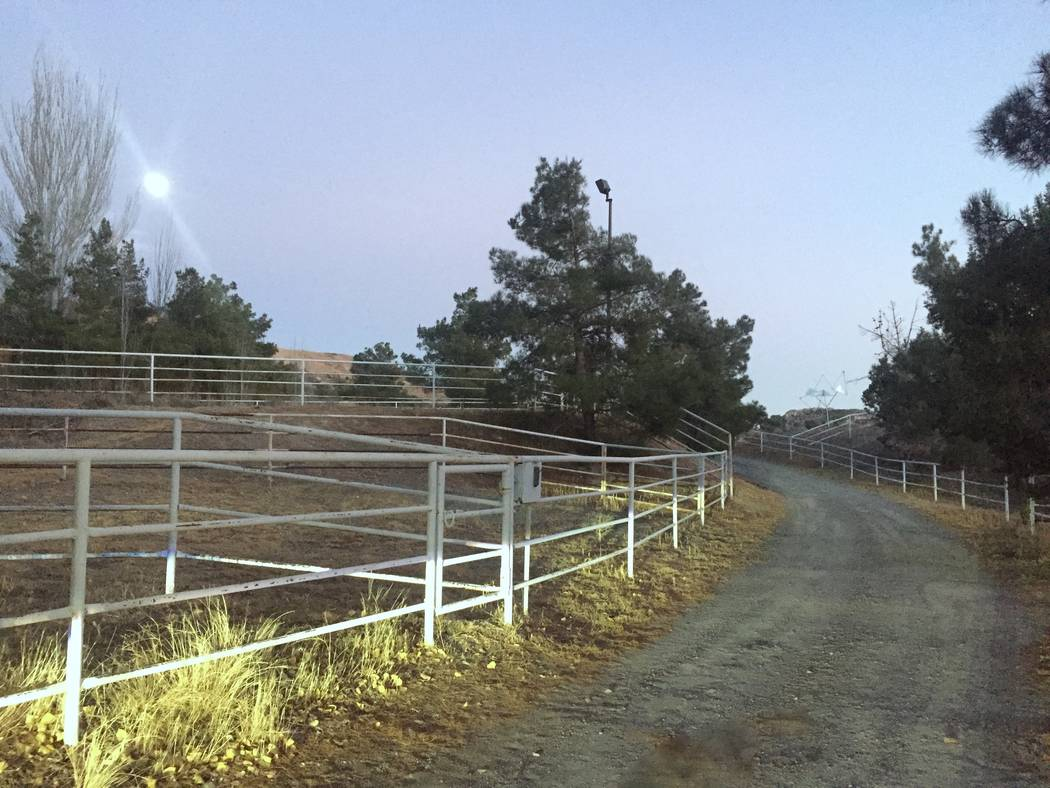 The 20.47-acre property at Benedict Drive features facilities for horses. (Realty One Group)