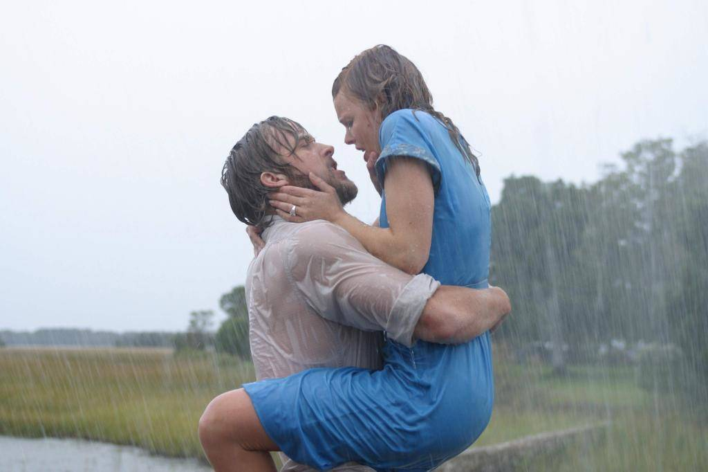"Ryan Gosling and Rachel McAdams play Noah and Allie Calhoun in 2004's ""The Notebook."" (New Line Cinema)"