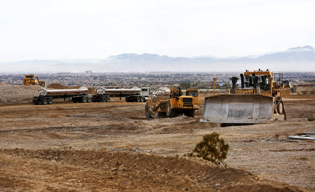 Construction begins for a $65 million project aimed at improving a six mile stretch of U.S. Highway 95 in Las Vegas, Thursday, Feb. 1, 2018. Andrea Cornejo Las Vegas Review-Journal @DreaCornejo
